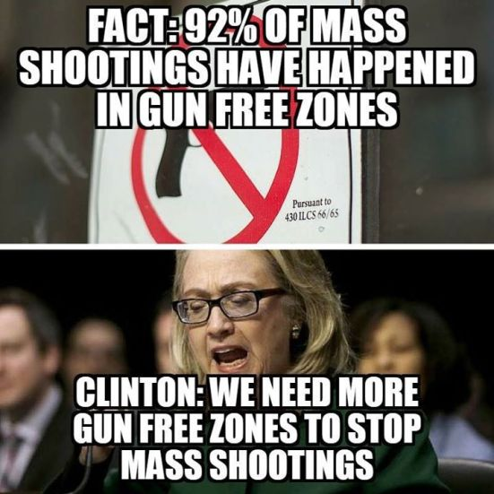 hitlery and gun free zones