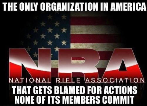 NRA blamed for everything